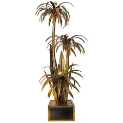 1970s Maison Jansen Palm Tree Floor Lamp