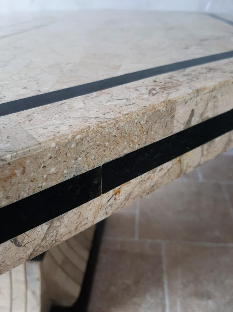 1970s Maitland Smith Tessalated Marble Dining Table For Sale 4