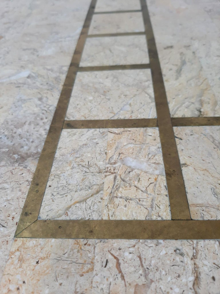 1970s Maitland Smith Tessalated Marble Dining Table For Sale 5