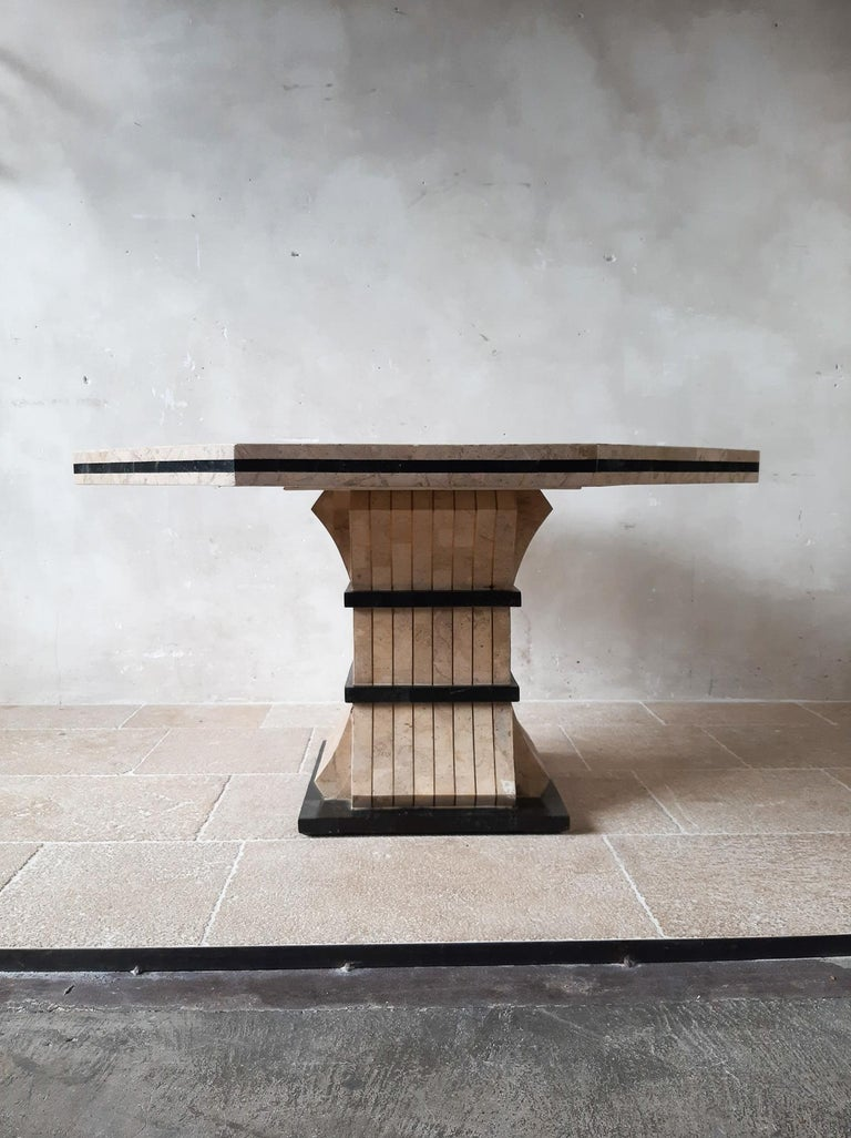 1970s Maitland Smith Tessalated Marble Dining Table For Sale 10