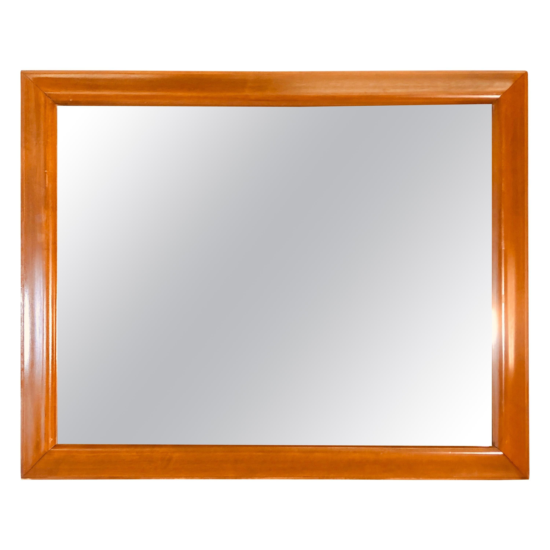 1970s Maple Wood Wall Mirror
