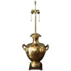 Marbro Urnen-Lampe aus Messing, 1970er Jahre