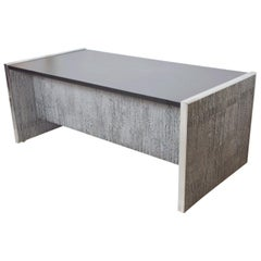 1970s Massive Brutalist Desk by Billy Joe McCarroll & David Gillespie California