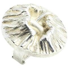 1970s Matti Hyvärinenf Modern Sterling Freeform Ring