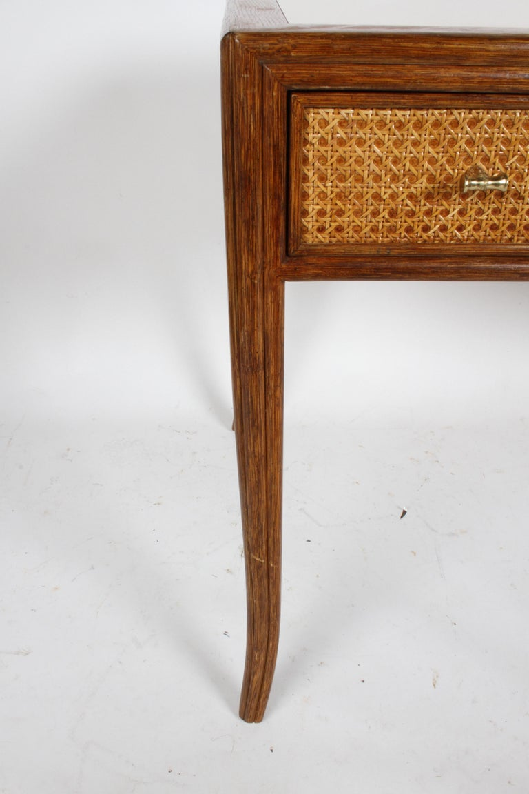 1970s McGuire Furniture Rattan and Caned Desk For Sale 5