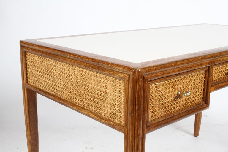 1970s McGuire Furniture Rattan and Caned Desk For Sale 7