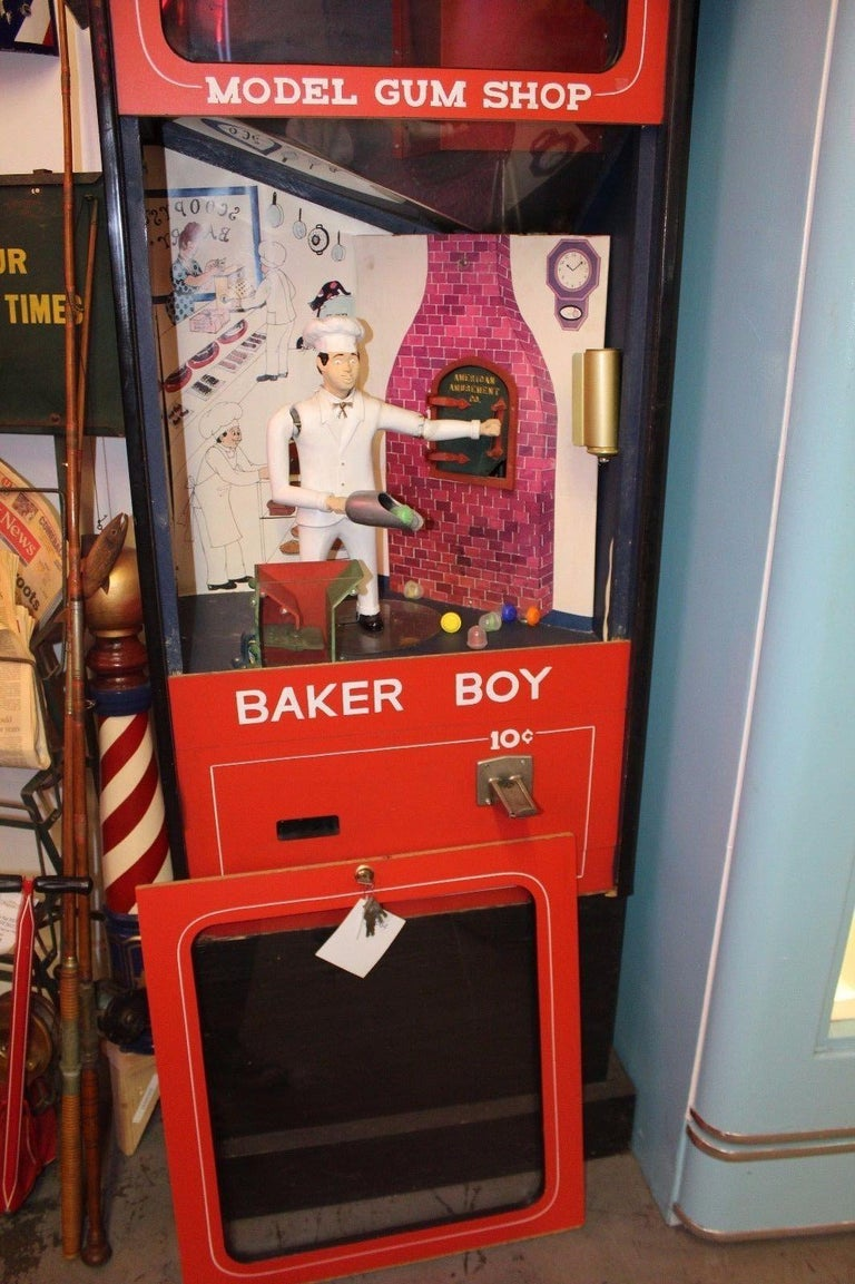 1970s Mechanical Baker Boy Vending 10c Machine For Sale At