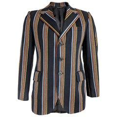 1970s Mens Vintage Striped Blazer Jacket