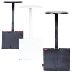 1970s Metal Modernistic Design Stool Set/3