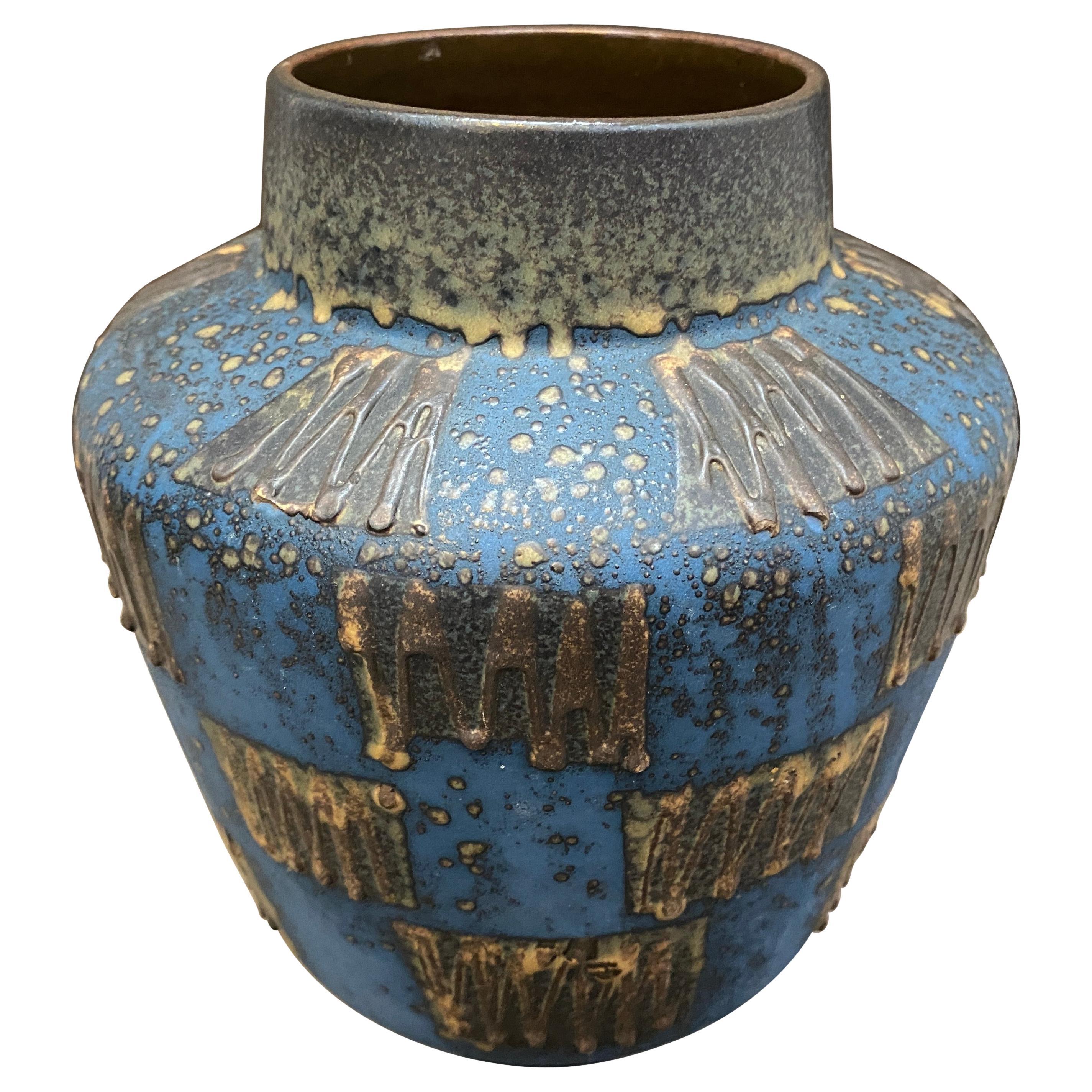 1970s Mid-Century Modern Fat Lava Ceramic German Vase by Carstens Tonnieshof