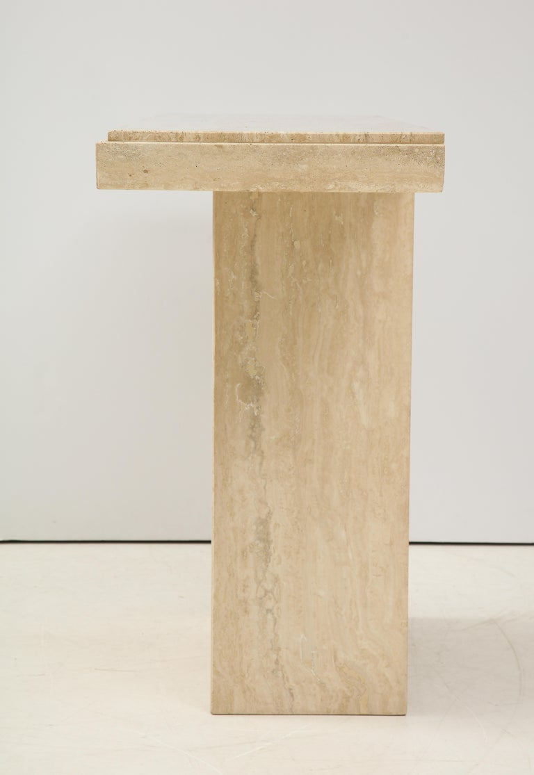 1970s Mid-Century Modern Italian Travertine Console For Sale 6