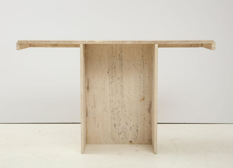 1970s Mid-Century Modern Italian Travertine Console For Sale 7