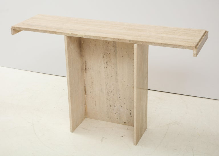 1970s Mid-Century Modern Italian Travertine Console For Sale 8