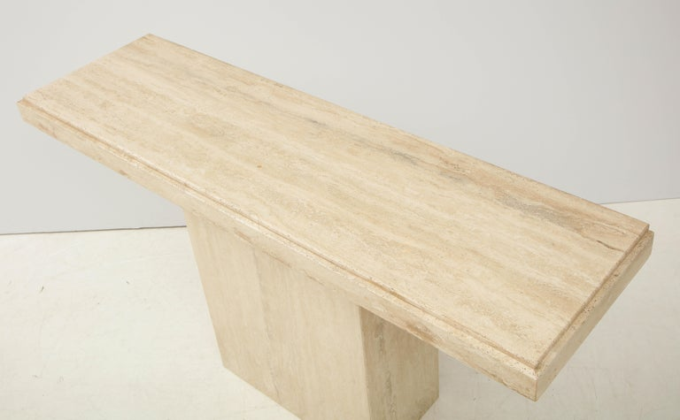 1970s Mid-Century Modern Italian Travertine Console For Sale 4