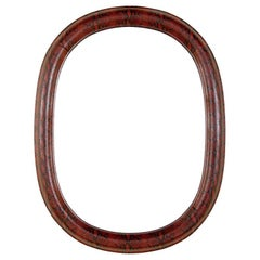 1970s Mid-Century Modern Red Python Embossed Leather Mirror
