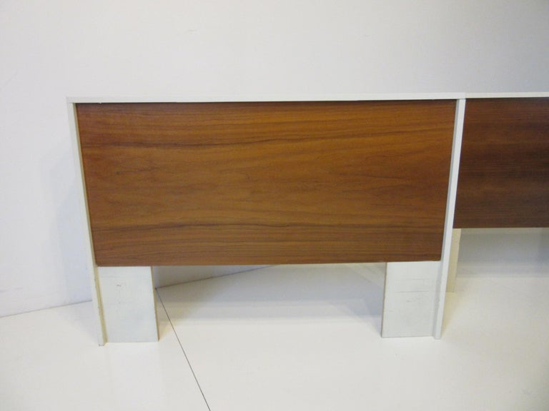 Modern 1970s Midcentury Twin Bed or King Headboards in the Style of Milo Baughman For Sale
