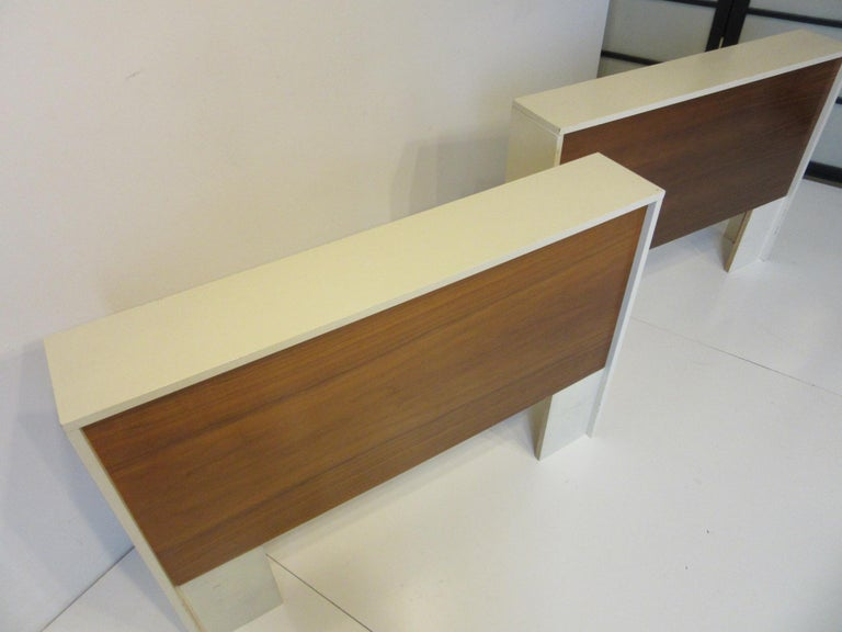 Canadian 1970s Midcentury Twin Bed or King Headboards in the Style of Milo Baughman For Sale