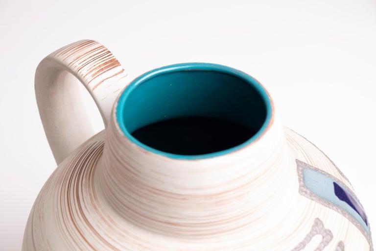 1970s Midcentury West German Abstract Pottery Vase by Carstens Tönnieshof 1
