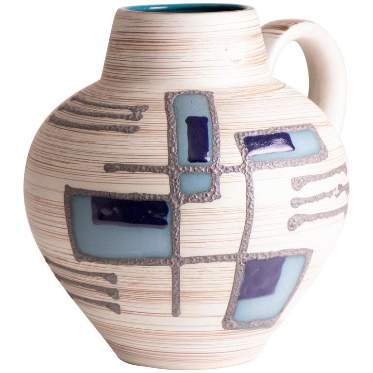 1970s Midcentury West German Abstract Pottery Vase by Carstens Tönnieshof