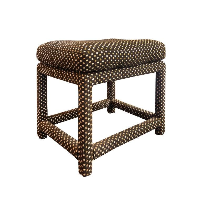 Milo Baughman for Thayer Coggin cushion-top bench in original upholstery, USA, 1970s.