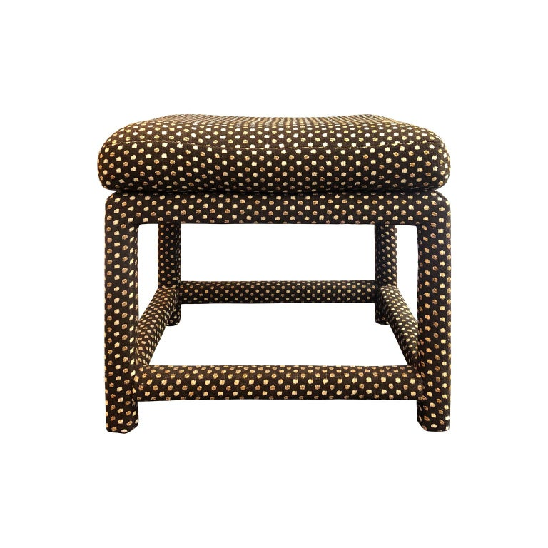 1970s Milo Baughman for Thayer Coggin Cushion Top Bench in Original Upholstery For Sale