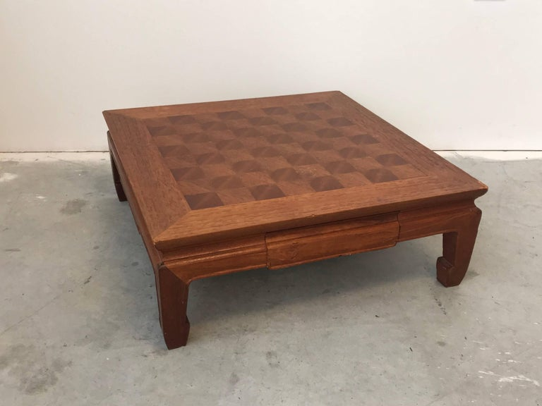 Offered is a beautiful and unique, 1970s Ming-style, wooden chessboard. The piece does not include chess pieces, the listing is for the board only. Has a drawer to store pieces. Heavy.
