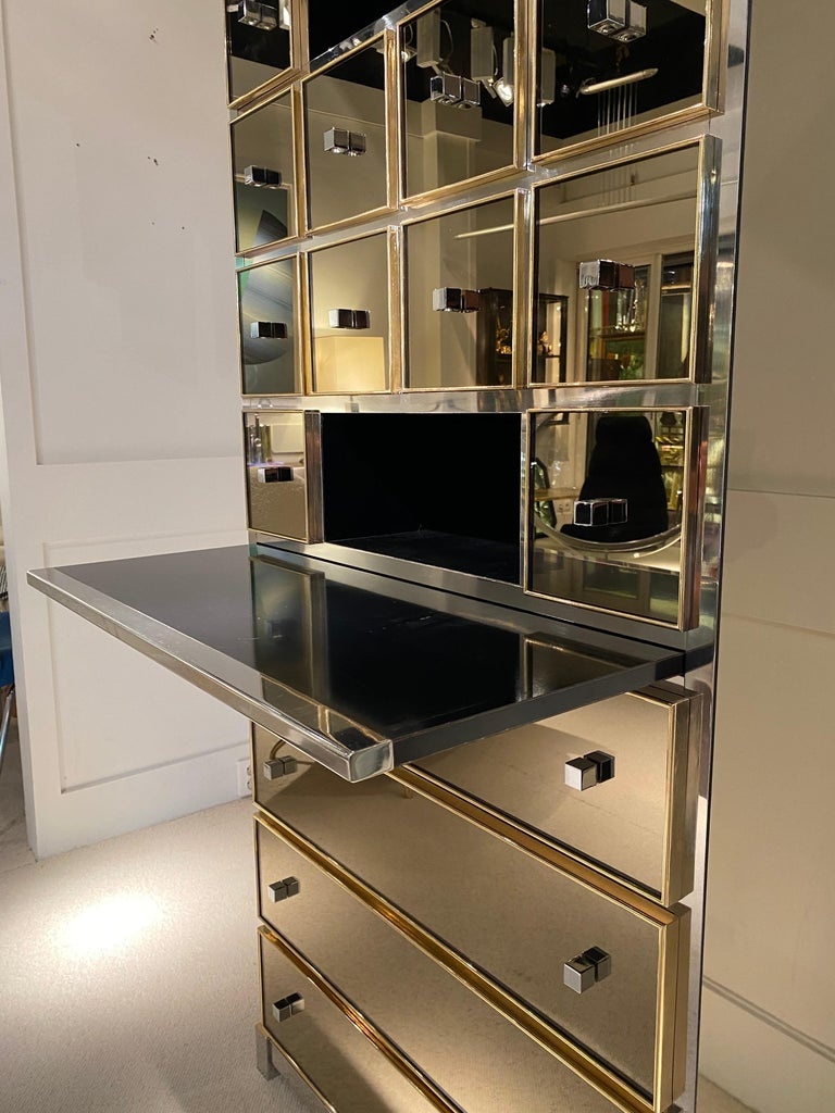 1970s Mirrored Cabinet by Michel Pigneres For Sale 6