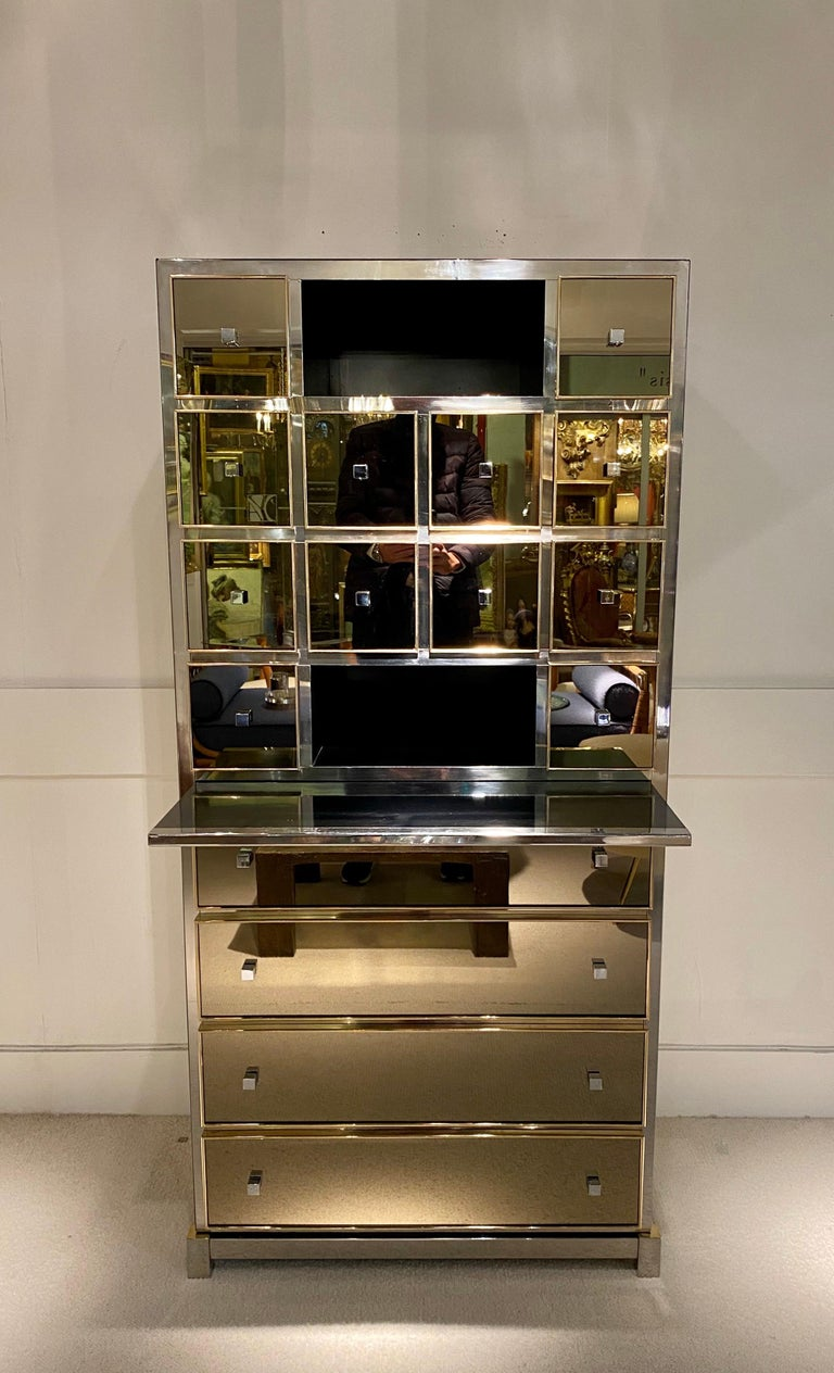 1970s Mirrored Cabinet by Michel Pigneres For Sale 7