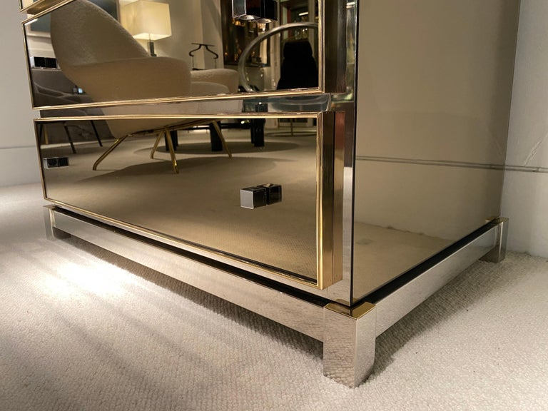 1970s Mirrored Cabinet by Michel Pigneres For Sale 10