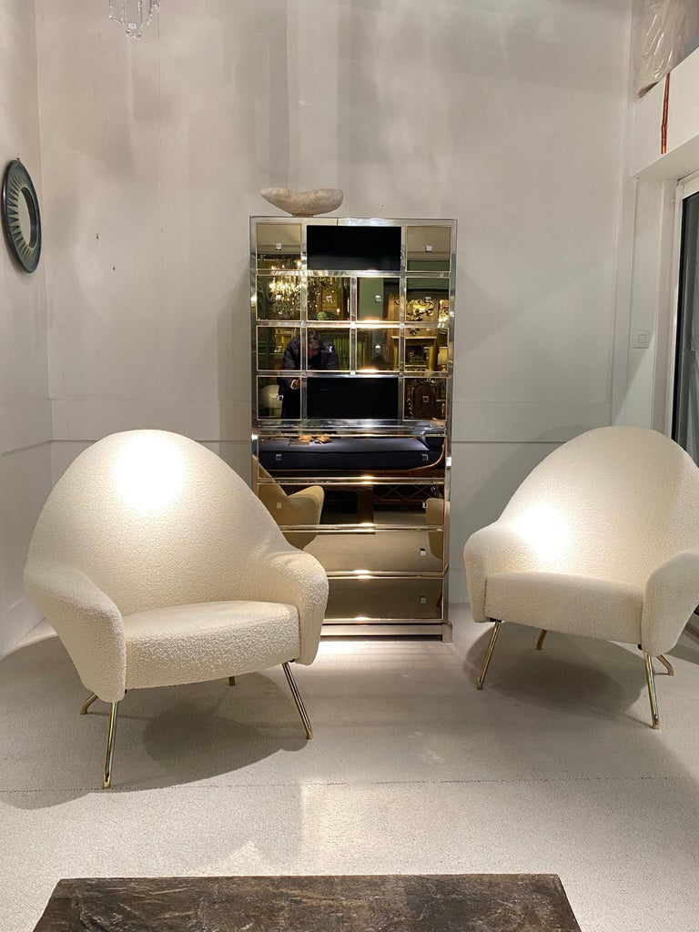 1970s Mirrored Cabinet by Michel Pigneres For Sale 13