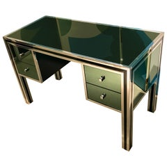 1970s Mirrored Desk by Michel Pigneres