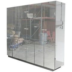 1970s Mirrored Storage Unit