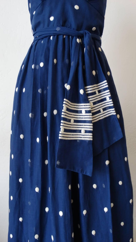 1970s Miss Elliette Polka-dot Halter Maxi Dress For Sale ...
