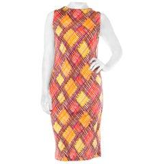 1970s Missoni Silk Jersey Printed Dress