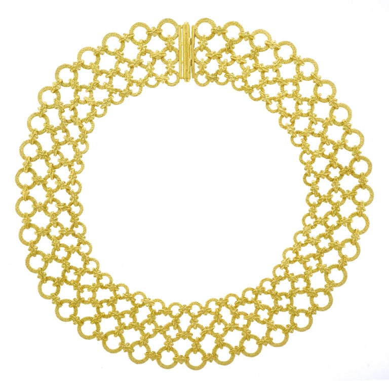 1970s Mod Gold Collar Necklace