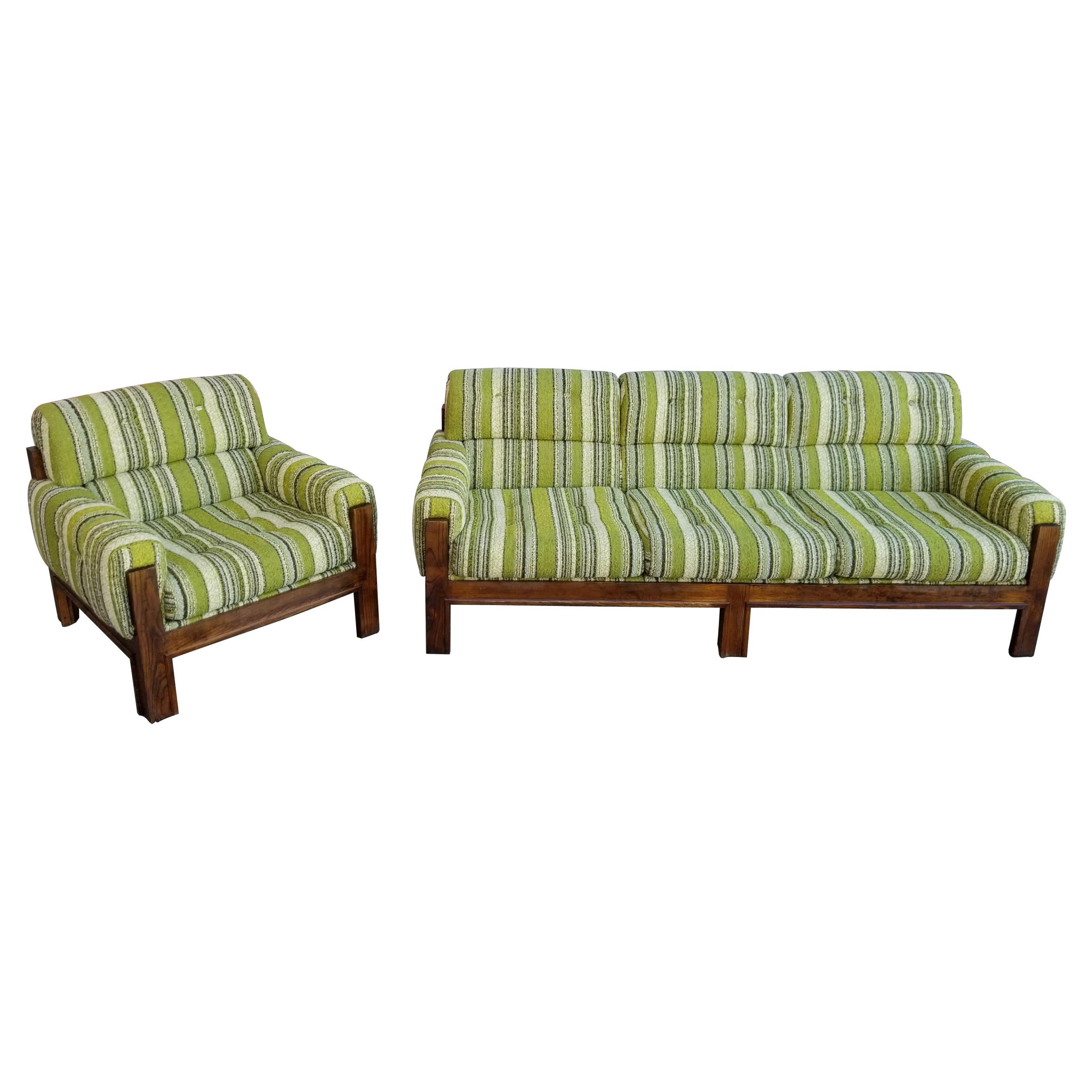 1970s Mod Sofa and Lounge Chair Set