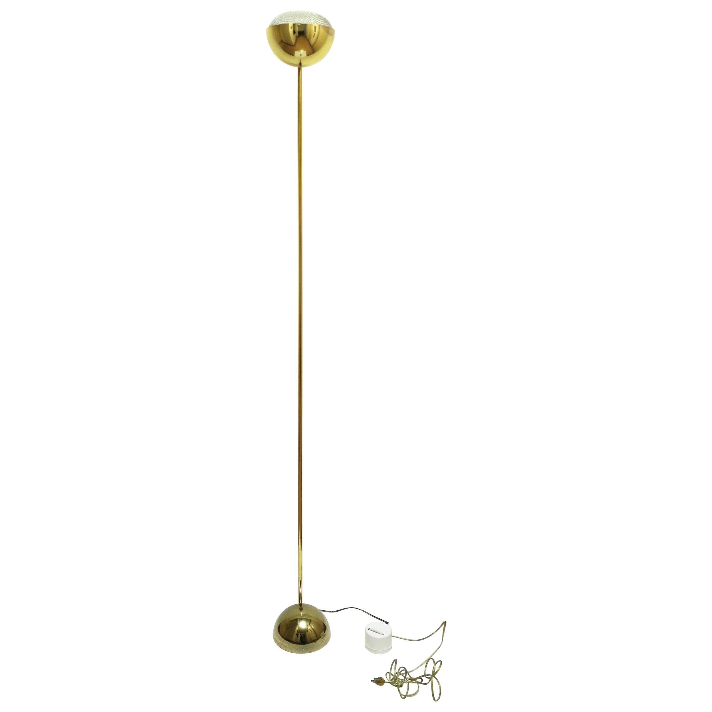 1970s Modern Brass Floor Lamp