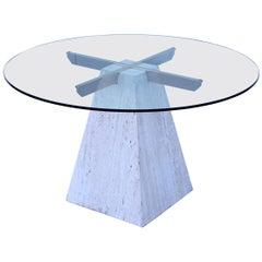 1970s Modern Italian Travertine Dining Table