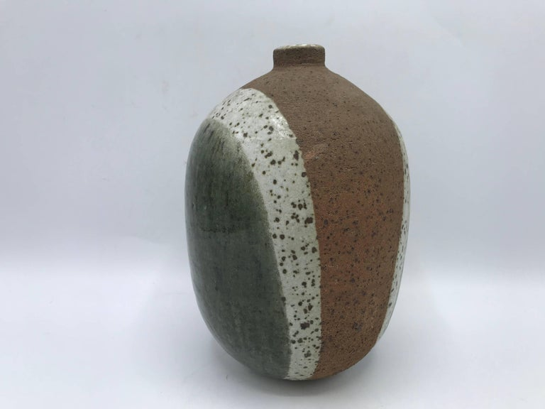 Mid-Century Modern 1970s Modern Italian Tricolor Pottery Vase For Sale