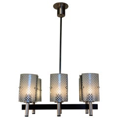 1970s Modern Six-Light Chandelier