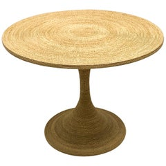 1970s Modern Tulip Style Woven Seagrass Center Table