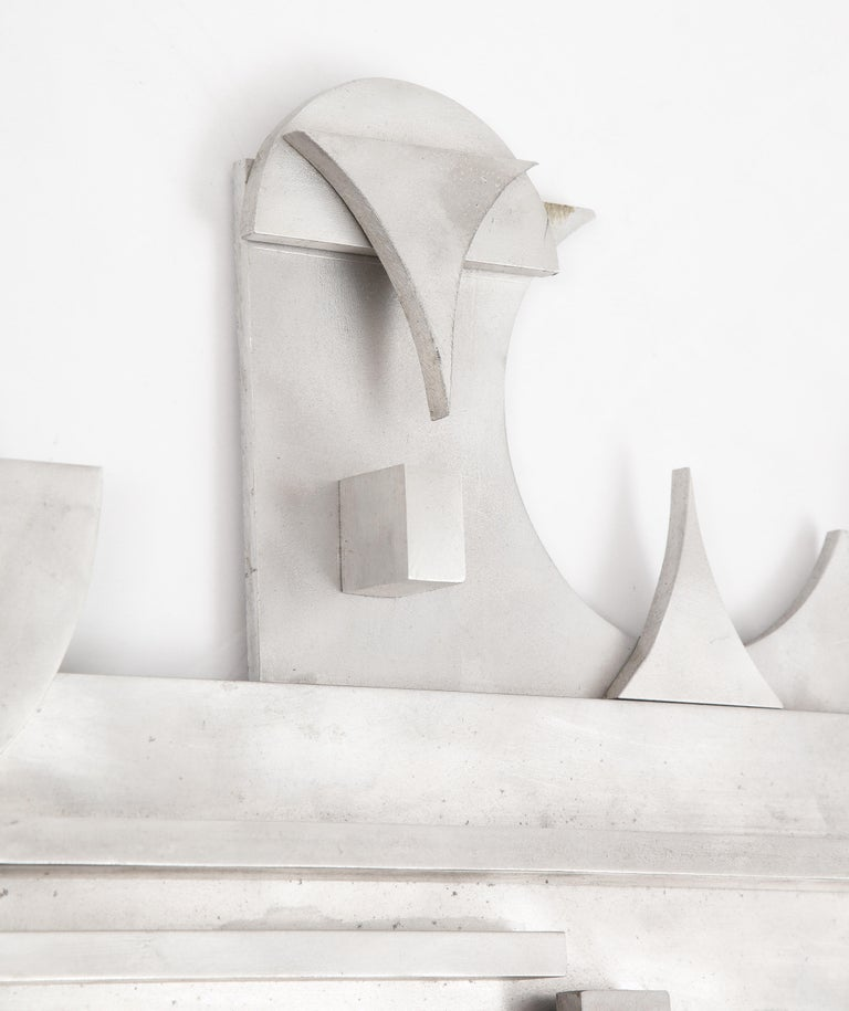 American 1970s Modernist Abstract Aluminum Wall Sculpture For Sale