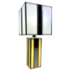 1970s Modernist Chrome and Plexiglass Dual Action Lamp
