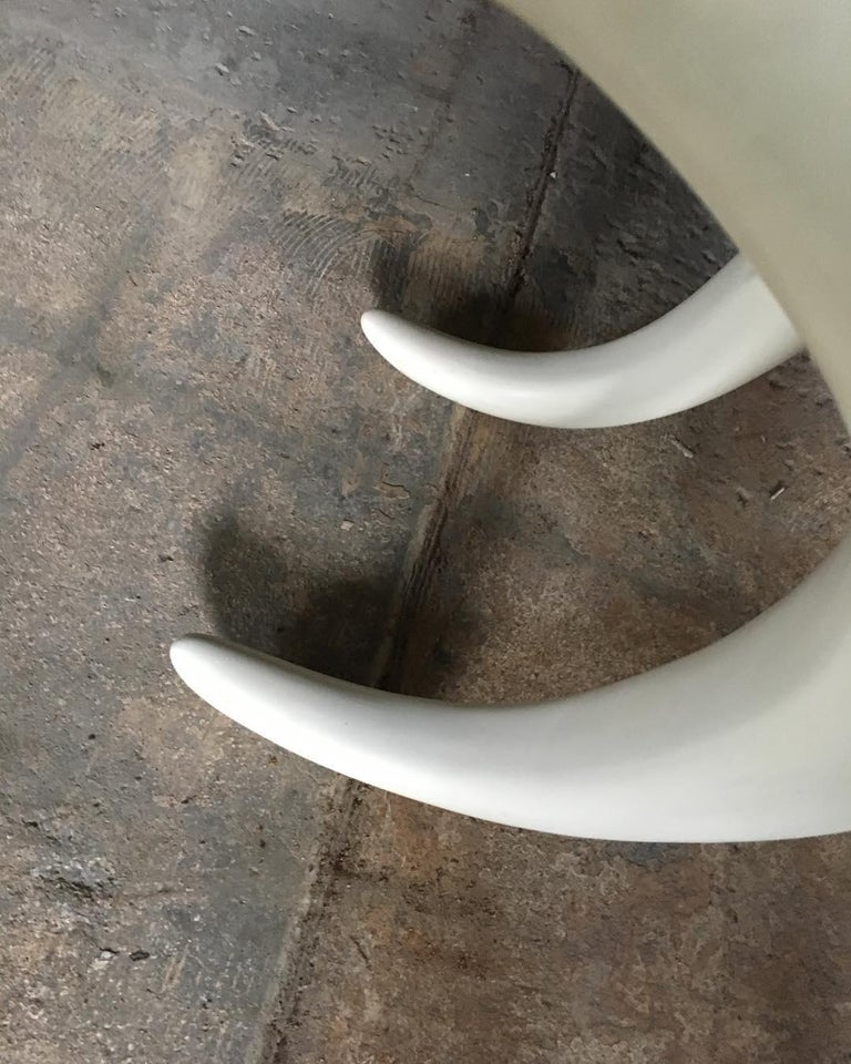 1970s Modernist Elephant Tusk Console / Writing Table For Sale 1