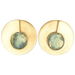1970s Modernist Roman Glass Earrings