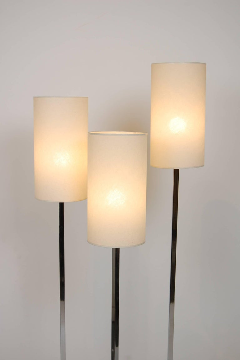 1970s Modernist Three Tier Shade Italian Floor Lamp For Sale 1
