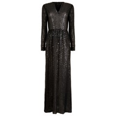 1970s Morty Sussman For Mollie Parnis Boutique Black Sequinned Dress