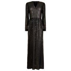 1970s Morty Sussman For Mollie Parnis Boutique Black Sequinned Dress