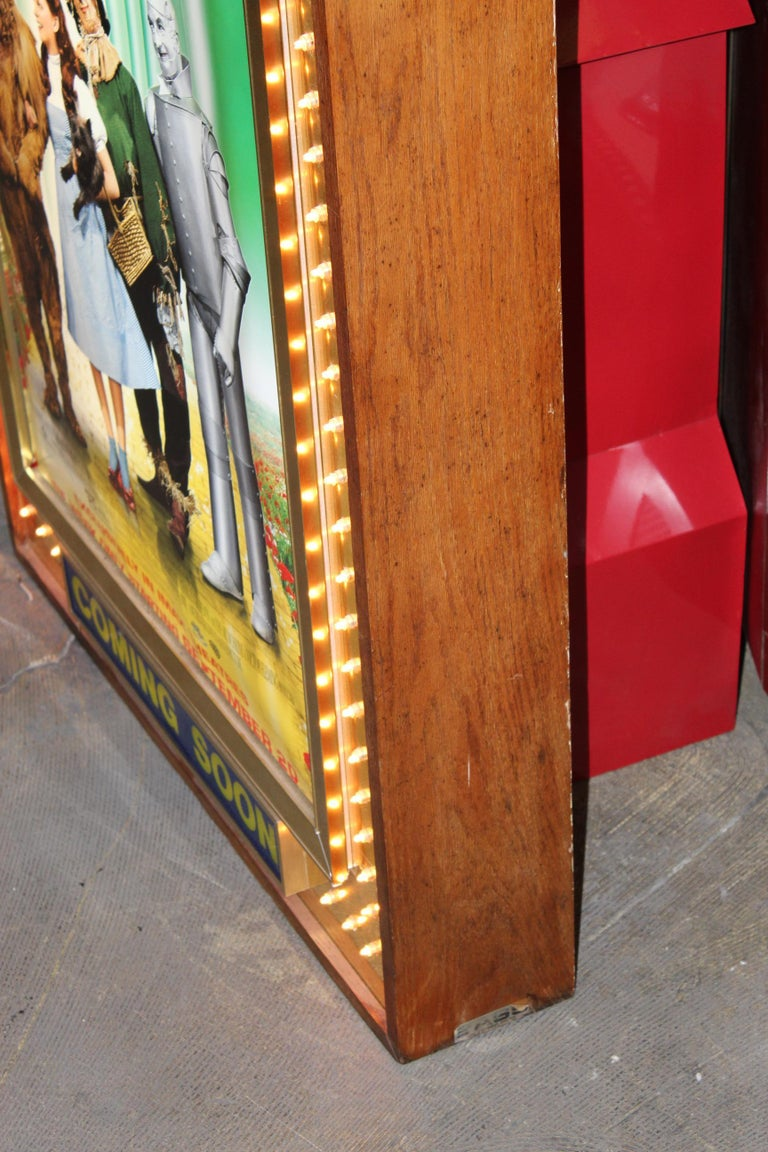 1970s Movie Theater Light Up Marquee Sign For Sale 2