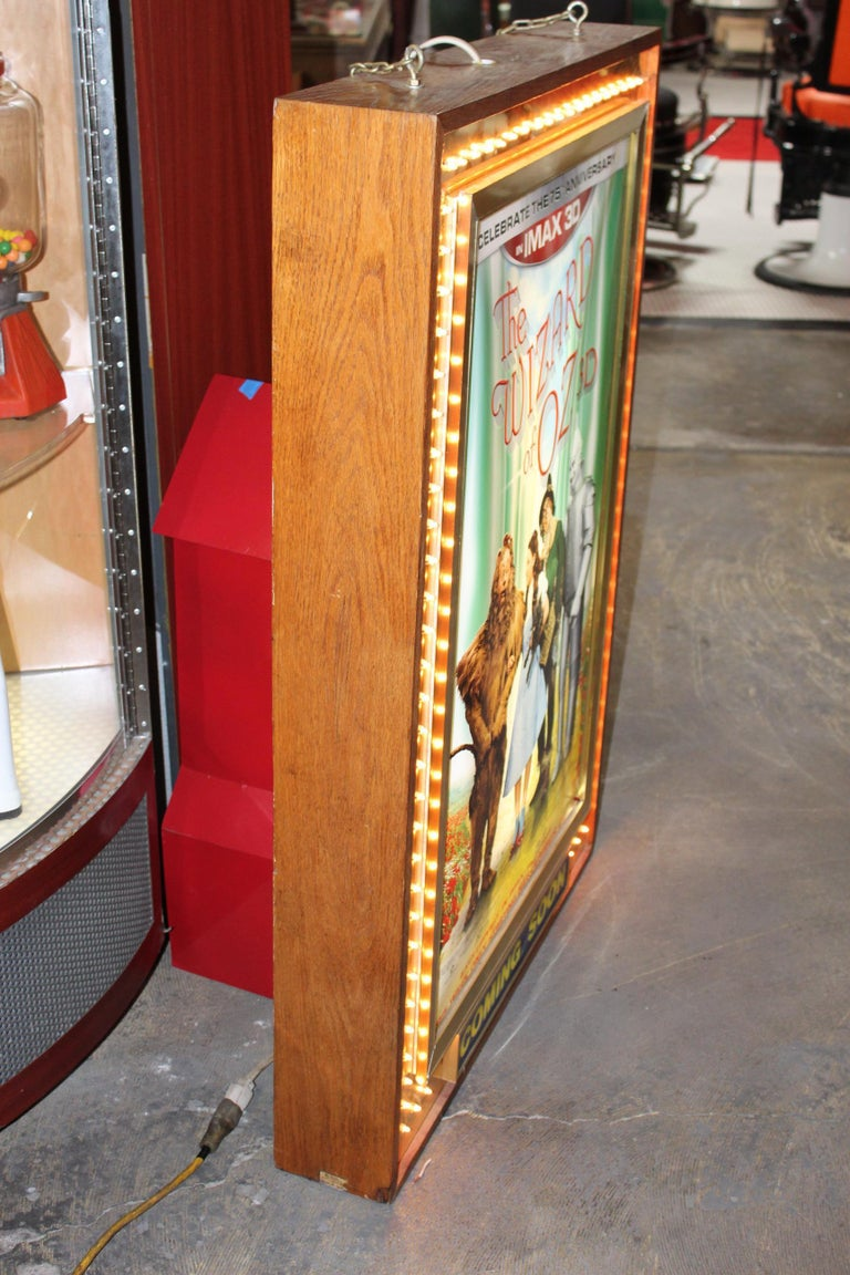 1970s Movie Theater Light Up Marquee Sign For Sale 3